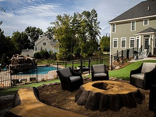 outdoor living room fire pit